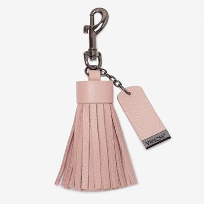 NEW! Leather Key Ring/ Bag Tassel – Blush
