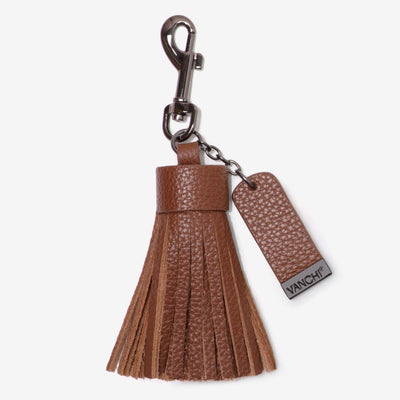 NEW! Leather Key Ring/ Bag Tassel – Tan