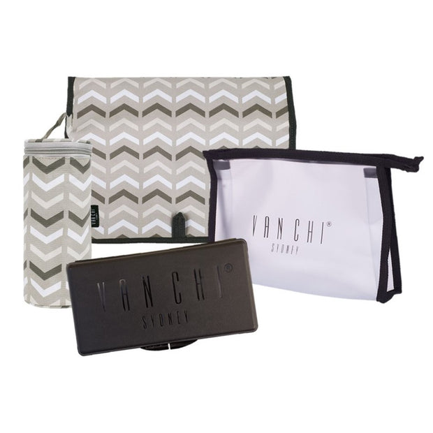 Lucca Tote - Black | Vanchi Nappy Bags | Premium Nappy Bags | For Style Savvy Mums