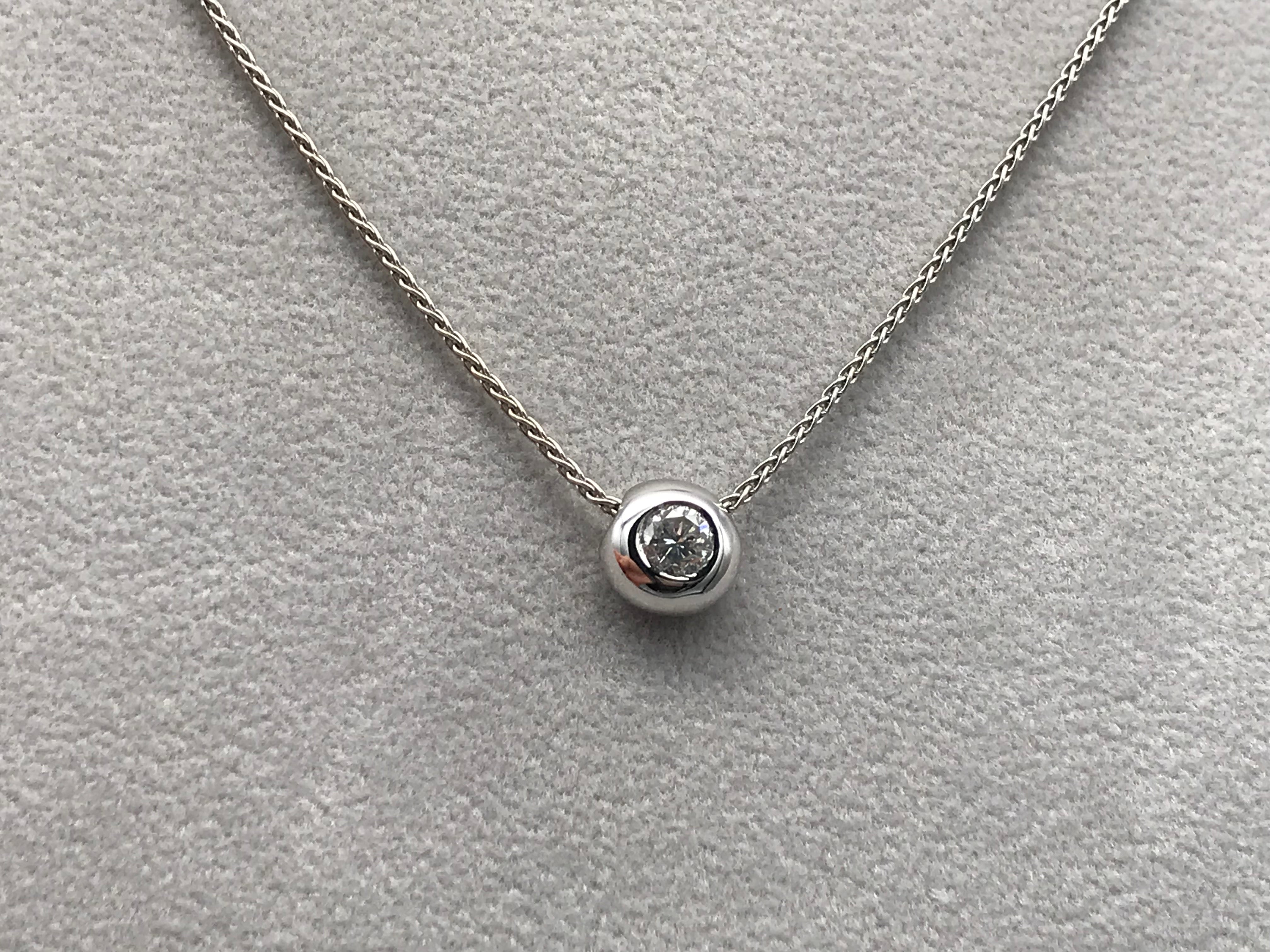 18k White Gold 0.35ct Diamond 'Doughnut' Necklace