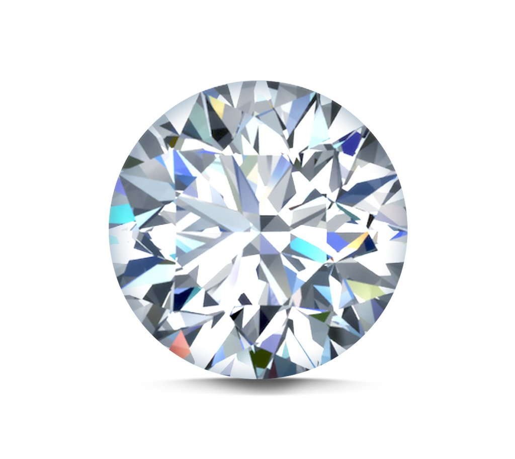 GIA, 0.90ct, J Colour, SI2 Clarity, Round Brilliant Cut Loose Diamond