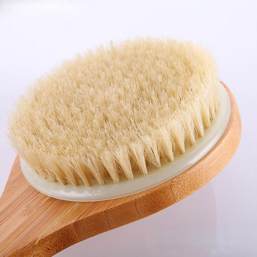 Wooden Swine Mane Body Brush