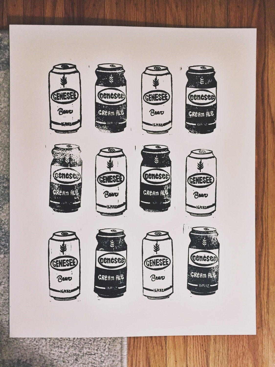 "Genesee Cans Print - 16"" x 20"""