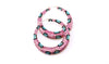 Pink Leopard Hoop Earrings