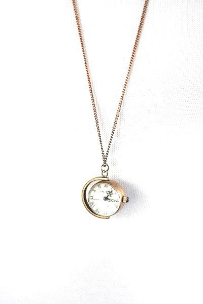 Globe Watch Necklace