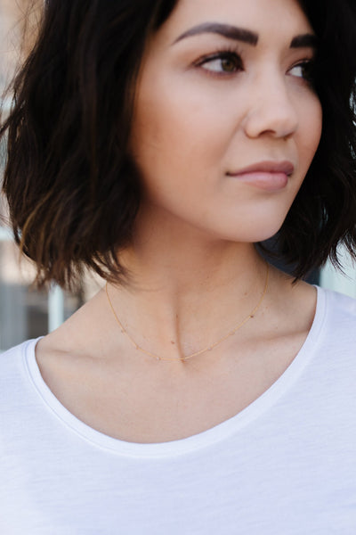 Dainty Spaced Bead Choker