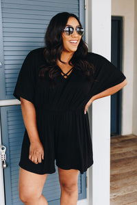 Black Criss Cross Romper