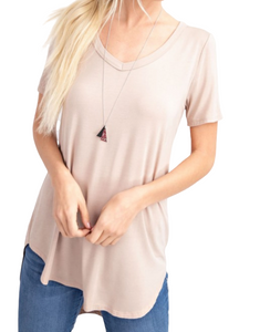 Molly tee in taupe