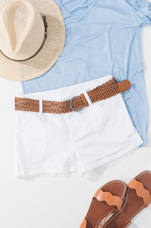 Sunset Beach Shorts White