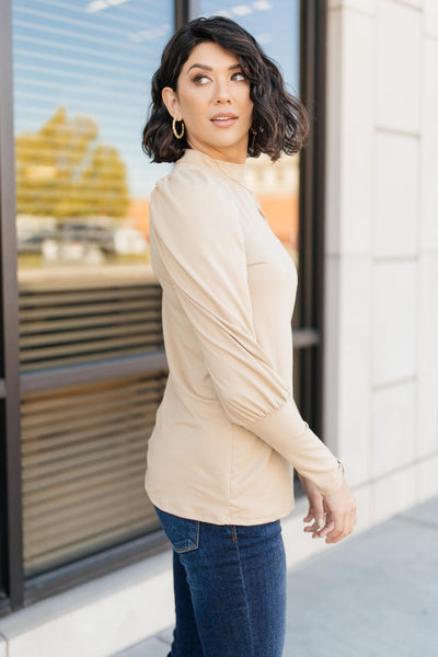 A Little Puff In Your Sleeve in Taupe