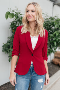 Acting Like A Lady Blazer in Red