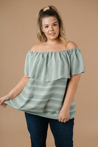 Breeze Into Fall Off Shoulder Ruffle Top