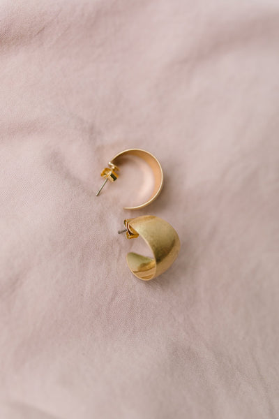 Chunky Small Hoop Earrings