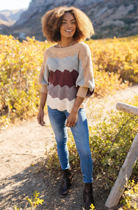 Designed For Details Sweater in Burgundy