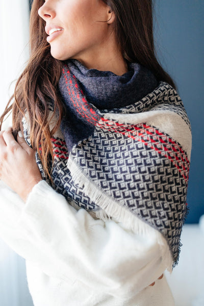 Divine Diamonds Blanket Scarf