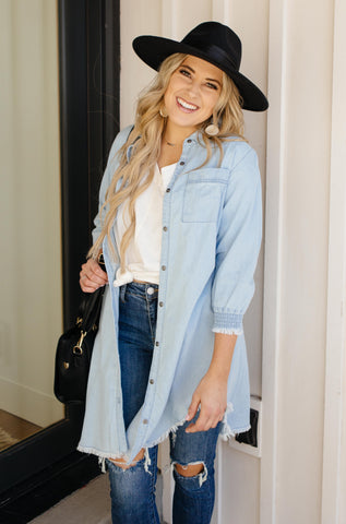 Leila Denim Button-Up