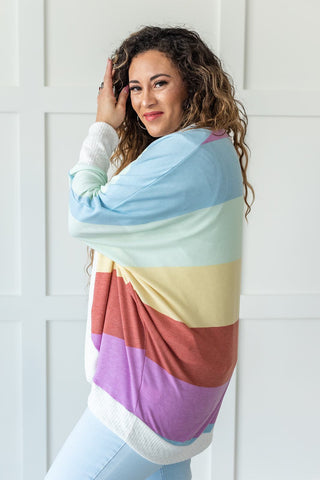 Living In The Sunshine Striped Cardigan