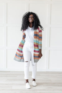 Sunshine And Rainbows Striped Cardigan