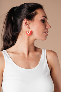 Tasseled V Earrings In RED