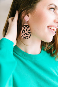 Teardrop Leopard Earrings