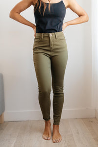 The Jessie Jean in Olive- Judy Blue