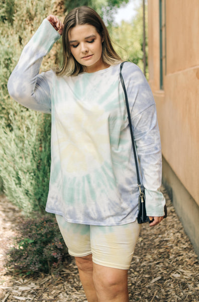 Tickle Me Tie Dye Top in Melon