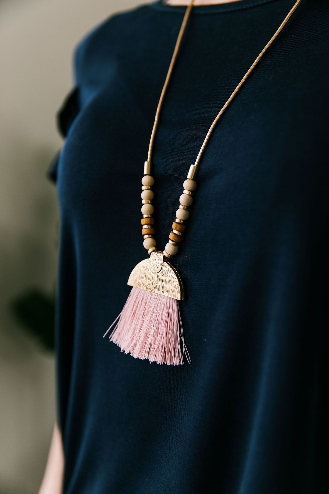 Artistic Muse Tassel Necklace