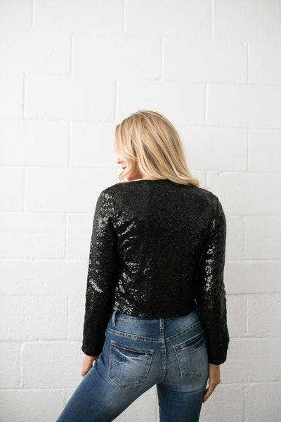 Auld Lang Syne Sequined Blazer - ALL SALES FINAL