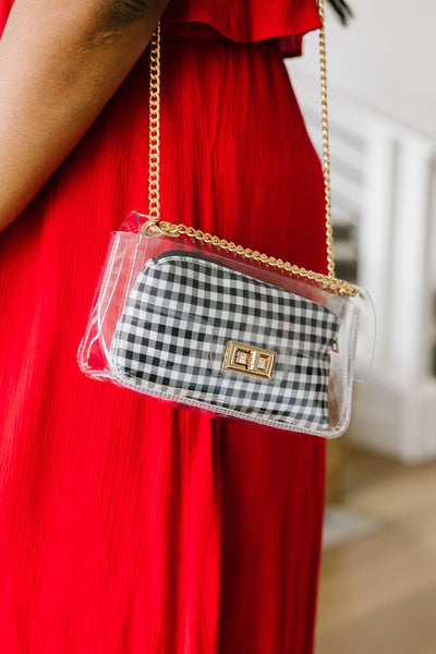 Complete Transparency Gingham Bag