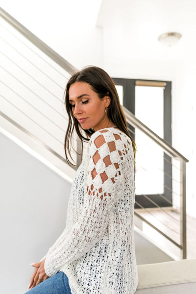 Cut Above Diamond Crochet Sweater