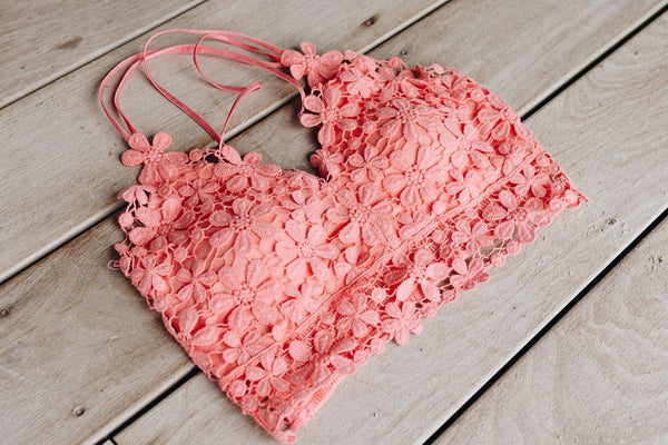 Daisy Delight Bralette In Coral
