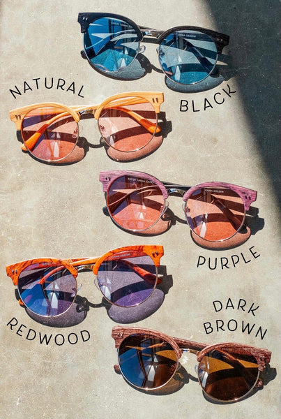 Daytime Drama Wood Framed Sunglasses