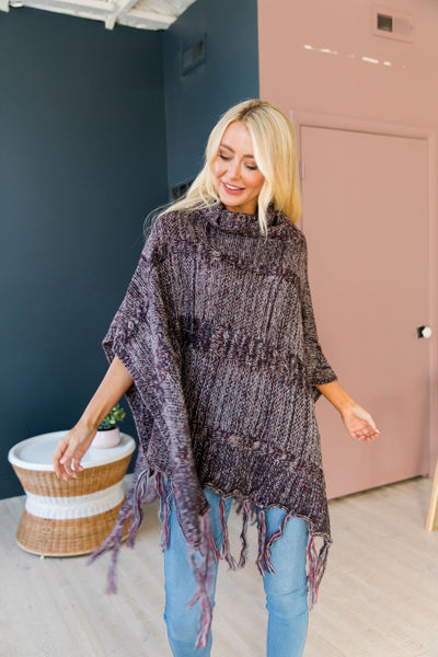 Dixie Chick Fringed Poncho - ALL SALES FINAL