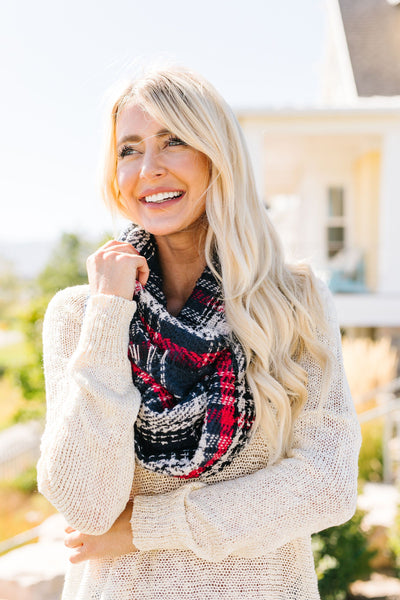 Fall And Beyond Infinity Scarf In Navy