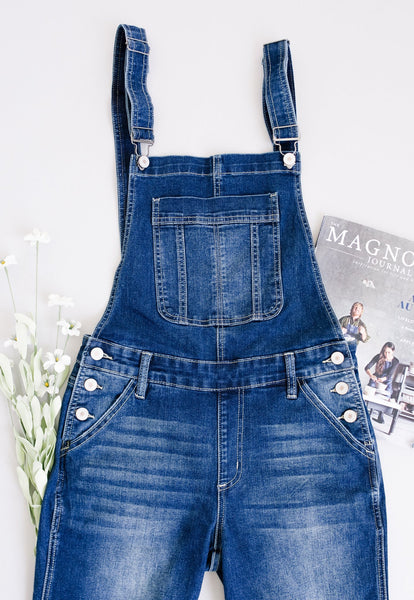 KanCan Under Siege Overalls In Dark Wash