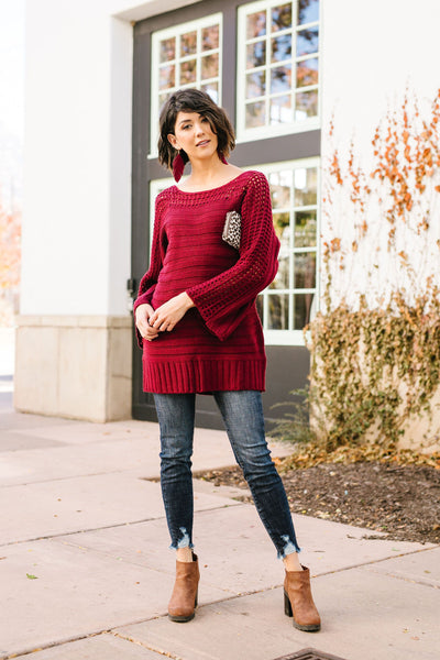 Game Night Burgundy Sweater