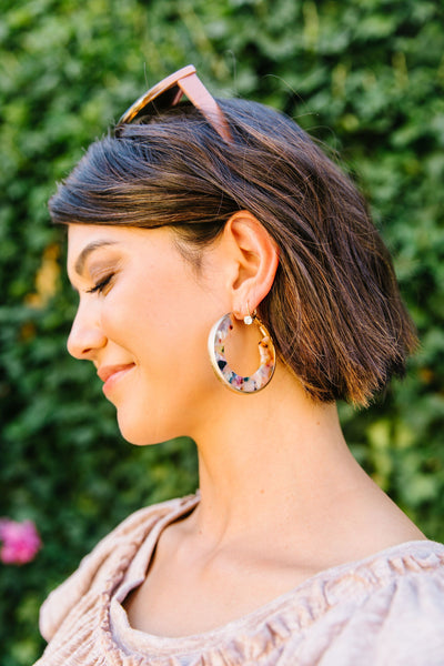 Hoopla Acetate Earrings