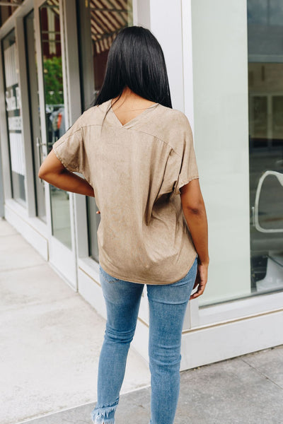 It's All About The V Tee In Latte