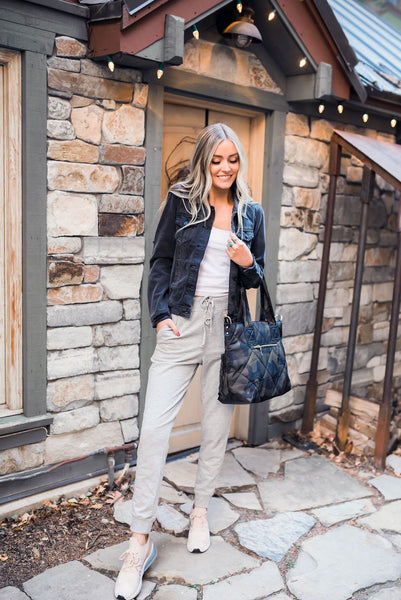 Lounge Around Town Joggers In Light Gray