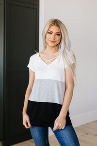 Made In The Shade Color-Block Top