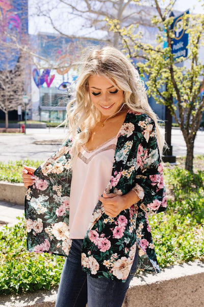 Mixed Flowers Cardigan