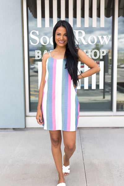 Pastel Persuasion Striped Dress
