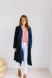 Rainy Day Trench Coat In Navy