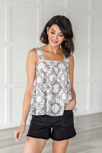 Attention To Detail Paisley Tank