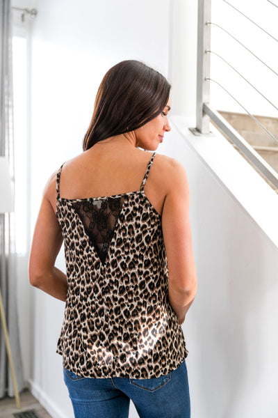 Ruffles And Lace Leopard Cami