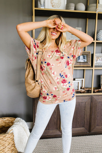 Shirred Delight Floral Top