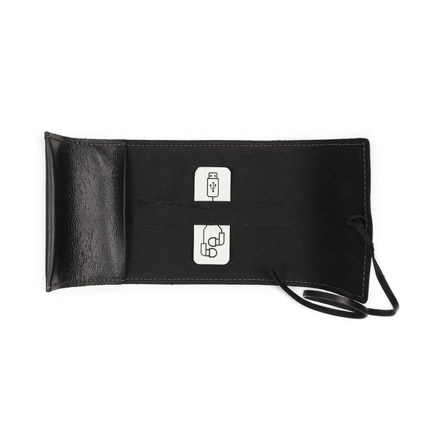 Sidekick Black Leather Cord Wrap