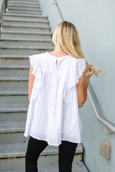 Summer Love Embroidered Top In White