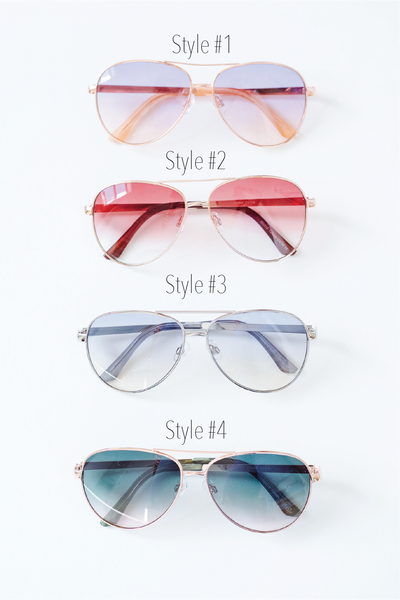 Sunset Aviator Sunnies Style #1