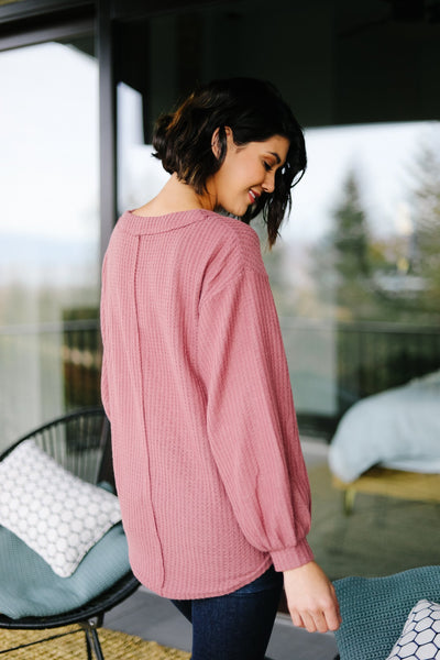 The Ashley Top in Mauve